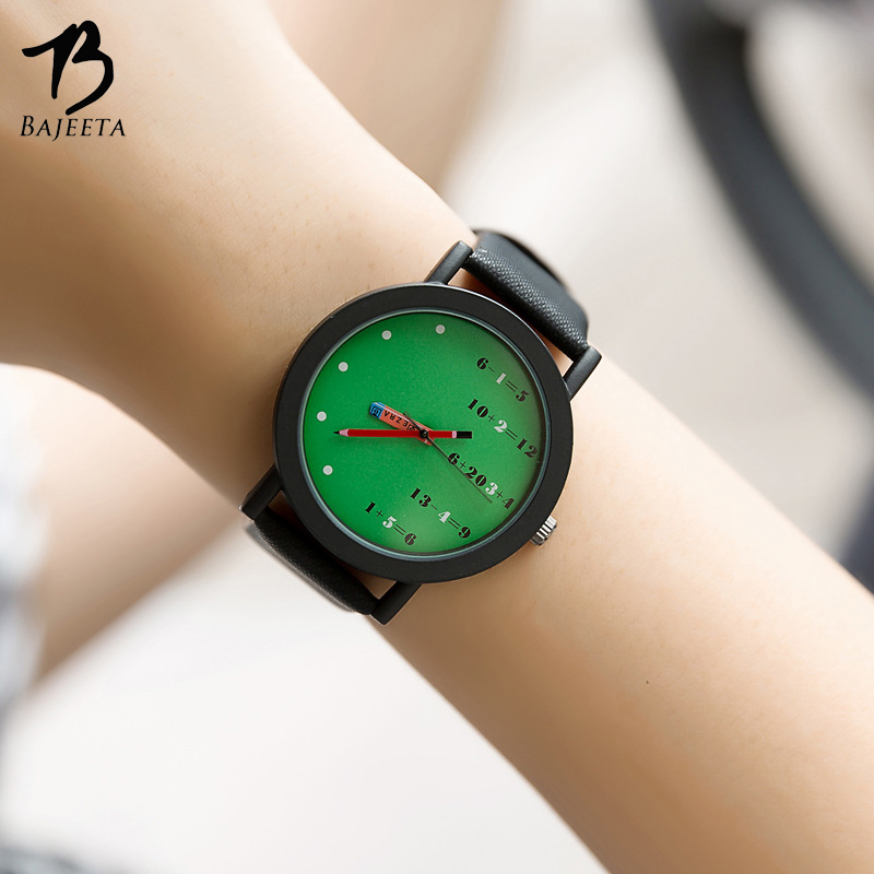 BAJEETA Mathematics Unique Dial Student Watch Fashion Quartz Leather Women Men Watch Hot Sale Casual Wristwatch Relogio Feminino meibo brand fashion women hollow flower wristwatch luxury leather strap quartz watch relogio feminino drop shipping gift 2012