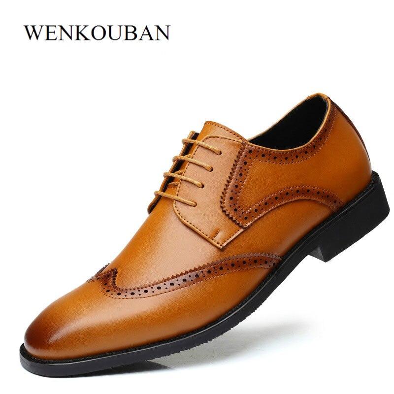 Hommes chaussures habillées mocassins décontracté cuir casual formelle britannique Oxford affaires chaussures de mariage chaussures hommes adultes respirant grande taille 38-47