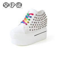 נעלי מסמרות אביב קיץ טריזים נשים נעלי ספורט גובה להגדיל 11 ס