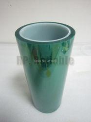 1 х 400 мм * 33 метра * 0,06 мм высокотемпературная клейкая ПЭТ зеленая лента для горячего прибора печатное покрытие для маскировки, печатная плат...