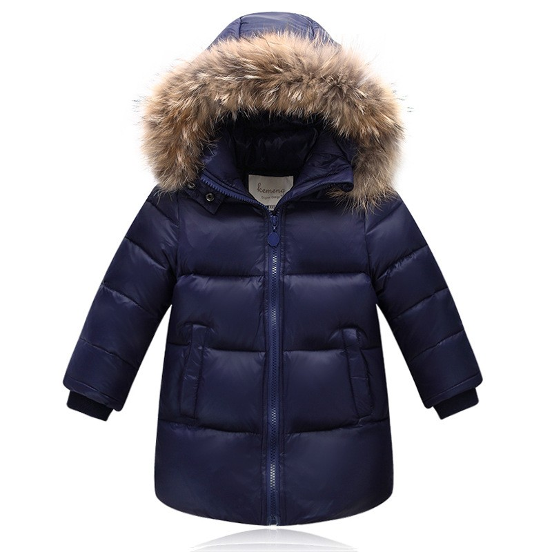 New Children baby school girl boy jacket real fur hooded duck down fluff kids coat thickening overcoat jacket for Russia winter children duck down winter warm jacket with fur baby boy girl solid overcoat hooded winter jacket kid clothing fashion down coat