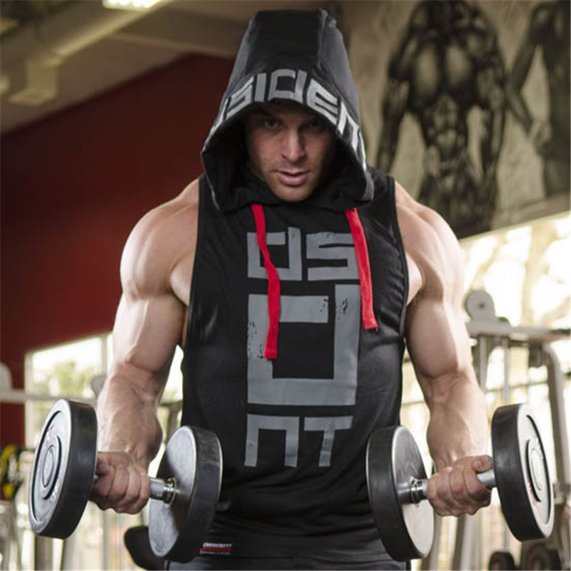 2017Hot Sale Gyms Clothing   Tank     Top   For Men Stringer Golds Bodybuilding Vest Fitness Workout Shirt Cotton Vest Hoodies Homme