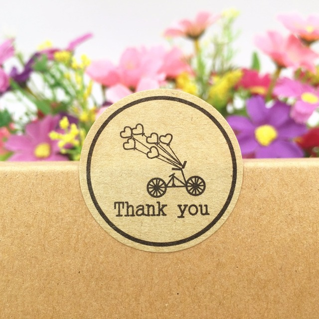 Kraft Paper Wedding Love Gifts Sticker Labels Diameter 3cm Gift Box Bags Cake