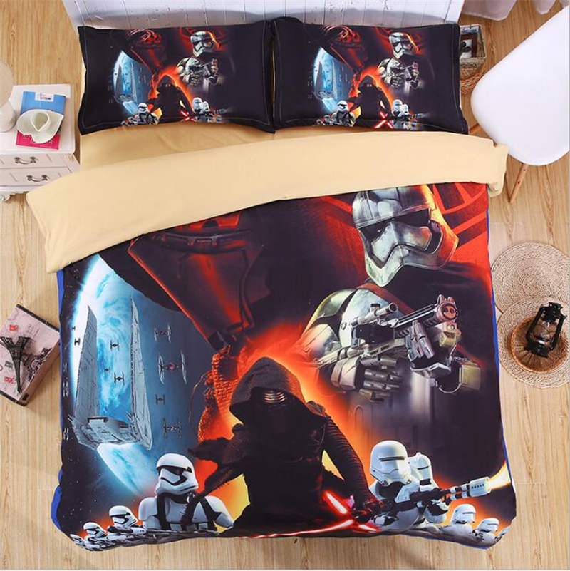 3D Star Wars Bedding Set Digital Printing Duvet Cover Set Pillowcases Twin Full Queen Super King Size Customizable