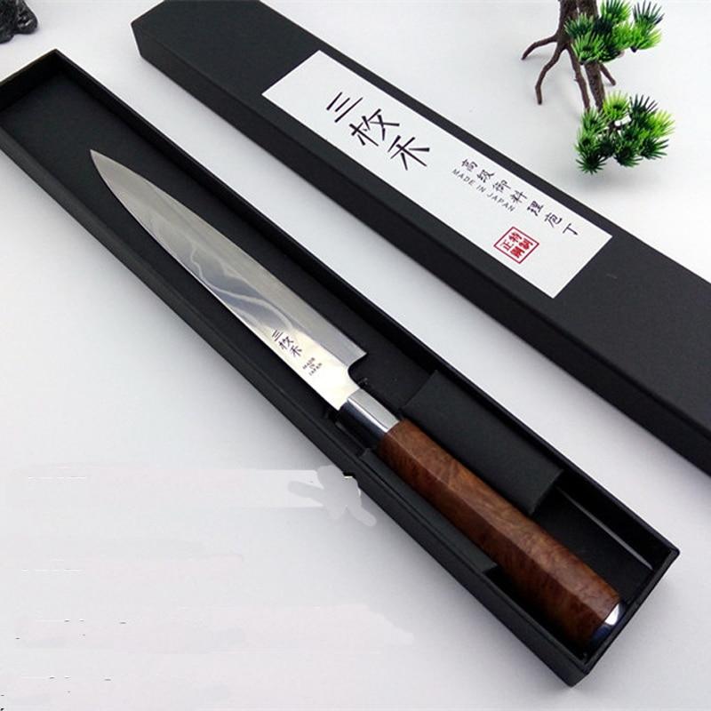 Free Shipping YILang Stainless Steel Kitchen Sashimi Salmon font b Knife b font Chef Raw Fish