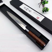Free Shipping YILang Stainless Steel Kitchen Sashimi Salmon Knife Chef Raw Fish Fillet Knife Sashayed Cooking knives For Gift