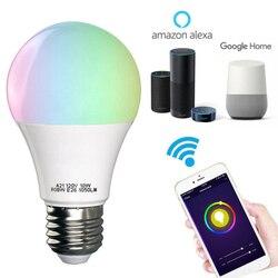 Magic RGB Smart WIFI Led Light Bulb 15 10 7 6.5 4.5 W E27 B22 Smart Home Bluetooth Lamp Color Compatible with Alexa google Home