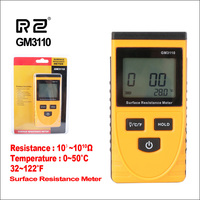 Rz medidor de resistência de superfície handheld medidor de resistência à terra instrumento medição detector estático gm3110 ferramentas resistência digital|Medidores de resistência| |  -