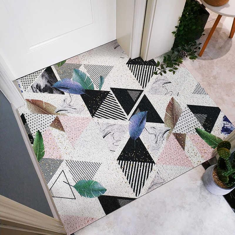 Nowoczesne pop styl wysoka elastyczność pcv jedwabne pętli wpis mat drzwi dekoracji dywan wodoodporna antypoślizgowa łazienka dywan DIY floormat
