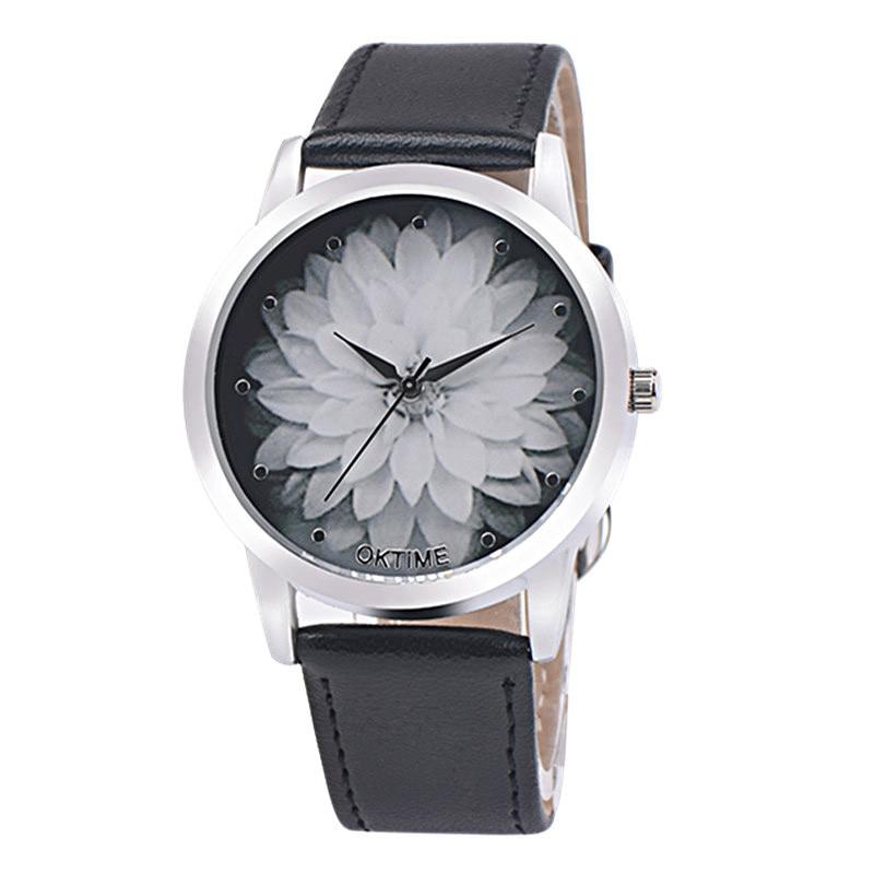 Women's watches Relogio feminino Saat Clock Fashion Flower Leather Analog Quartz Vogue Wrist Watch women,XL30 fashion brand wristwatch women girl lide wrist watch pu leather band analog quartz watches relogio feminino