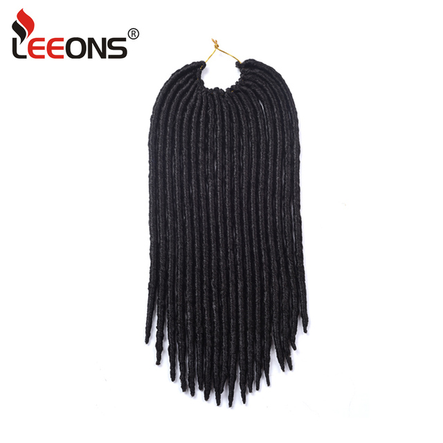 Leeeons Popular 1 10pcs 18strandspcs Dreadlock Extensions Faux Locs