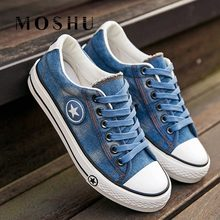 Summer Women Trainers Sneakers Denim Canvas Shoes Female Lace Up ladies Casual Shoes vulcanized shoes Basket Femme zapatilla