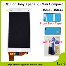 New LCD with adhesive Touch Screen lcd display Digitizer Assembly Complete For Xperia Z3 mini For Z3 Compact d5803 d5833 M55W
