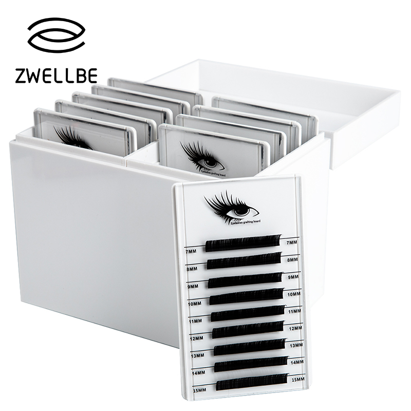 Eyelash Storage Box 5/10 Layers Makeup Organizer False Eyelashes Glue Pallet Holder Grafting Eyelashes Extension Makeup Tool