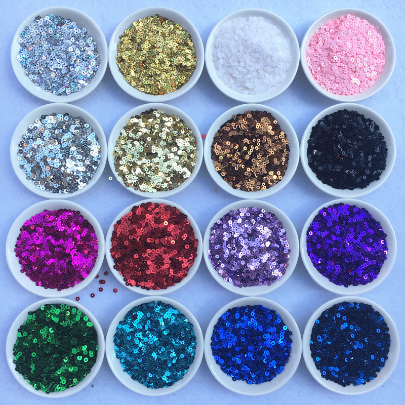 10000pcs 3mm Flat Round Loose Sequins Paillette Sewing Craft Decoration Garment Cloth DIY Confetti Accessories Good Quality