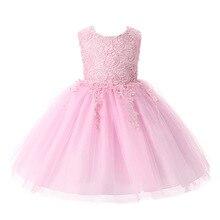 Nouvelles Filles Robes Pour L'été coton robe de Bal parti robe Bébé Filles Mignon Princesse Robe, filles vêtements rouge blanc rose
