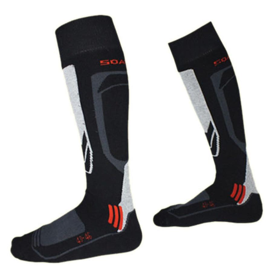 Warm Winter Ski Socks Men Knee-High Thermal Thick Cotton Sports Leg Warmers Snowboard Cycling Skiing Soccer Socks