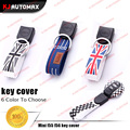 1pc Car Styling Key Ring Belt KeyChain Chain for Mini Cooper F54 F55 F56 Club Countryman 2014 2015 Accessories union jack jcw