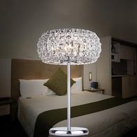 Современная роскошь K9 хрусталь настольная лампа спальня минималистский настольная лампа живут кроватями светодиодные лампы исследование
