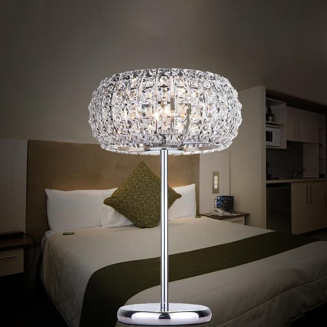 Modern luxury k9 crystal glass table lamp bedroom minimalist desk modern luxury k9 crystal glass table lamp bedroom minimalist desk lamp living bed room led lamp aloadofball Images