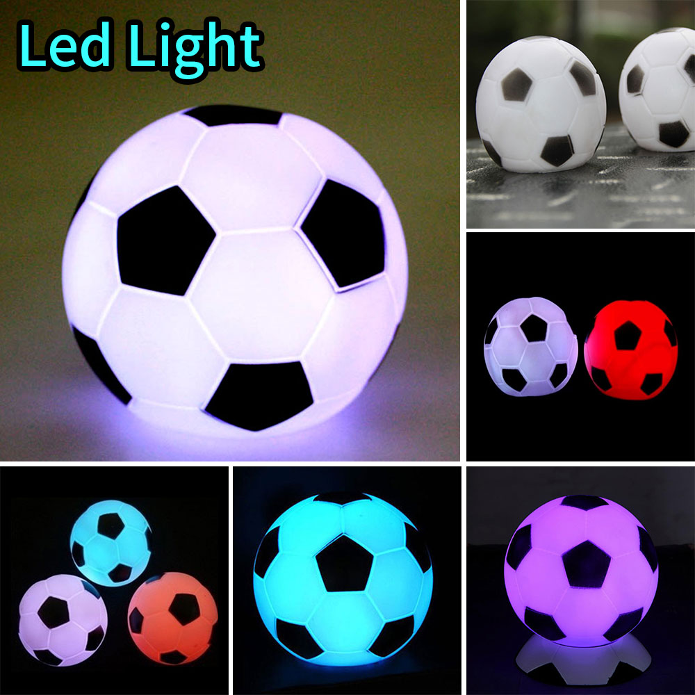 Night Light Lamp Football Shape Colorful Bright Interesting Adorable Room Decor Bedroom Lighting Kids Boys  New Year Gifts