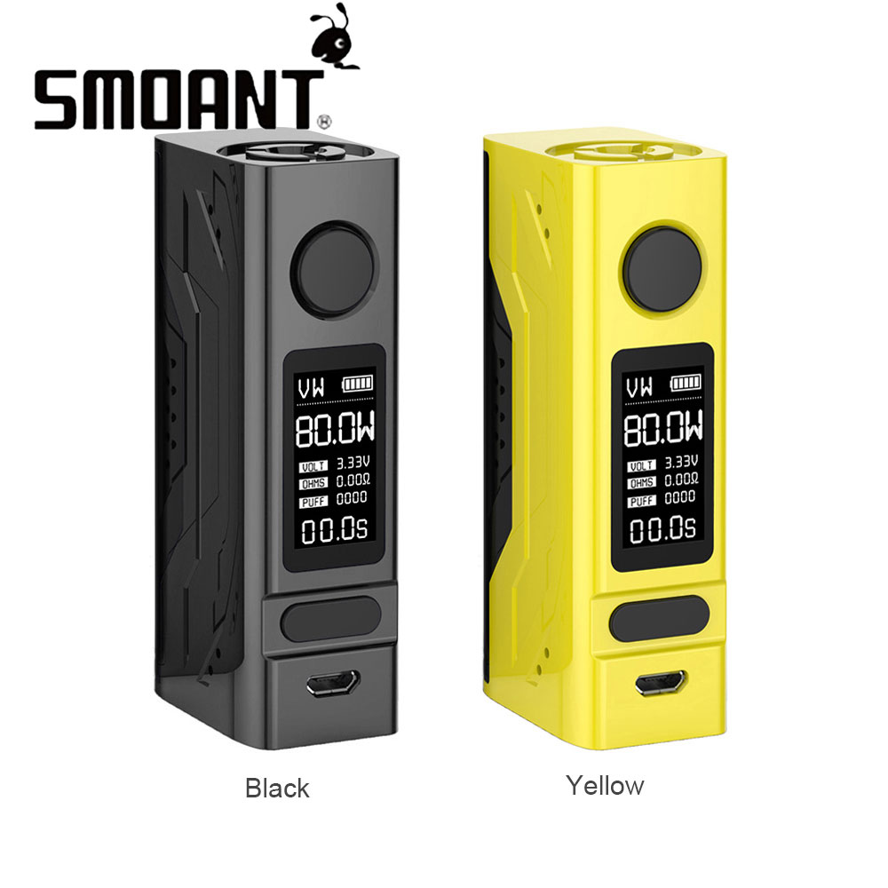 Vape Box Mod Smoant Battlestar Mini 80W TC Box MOD w/0.96 Inch OLED Display Max 80W Output No18650 Battery Battlestar Mini Mod