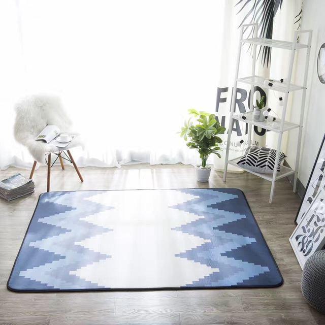 mode scandinavische geometrische zachte hal woonkamer slaapkamer decoratieve tapijt gebied rugyoga baby spelen mat pad zebra