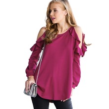 strapless t-shirt casual top long-sleeved ladies plain shoulder hollow out tee shirts rose clothes t shirt women casual tops one shoulder plain ribbed t shirt