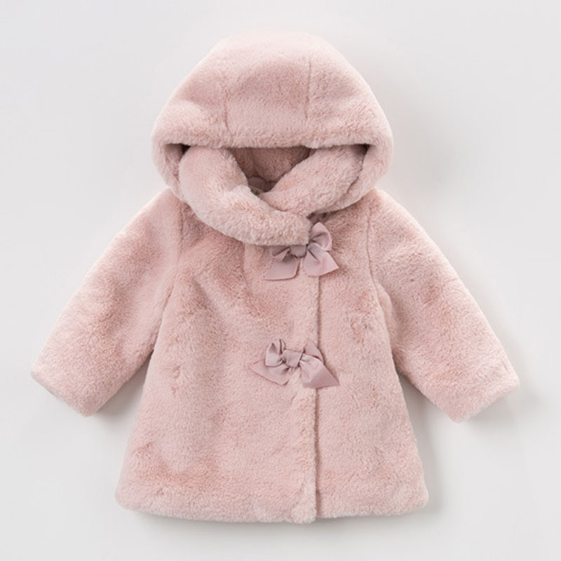 Girls Coats Winter Jackets for Girls Faux Fur Snowsuit Children Clothing Fashion Hooded Jackets Long Sleeve Kids Outerwear 1-4 Y baby boy s fashion hooded coats 2017 winter cartoons little monster cute long sleeve jackets children s clothing warm outerwear