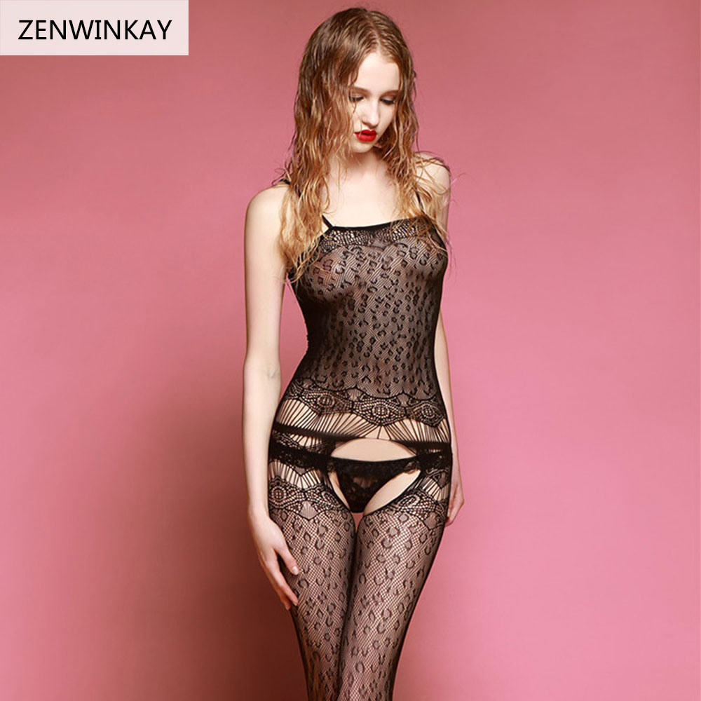 2017 Black Adult <font><b>Sex</b></font> Costumes Slutty Underwear Mesh Fishnet Lingerie Women Sexy Black <font><b>Body</b></font> Stocking image
