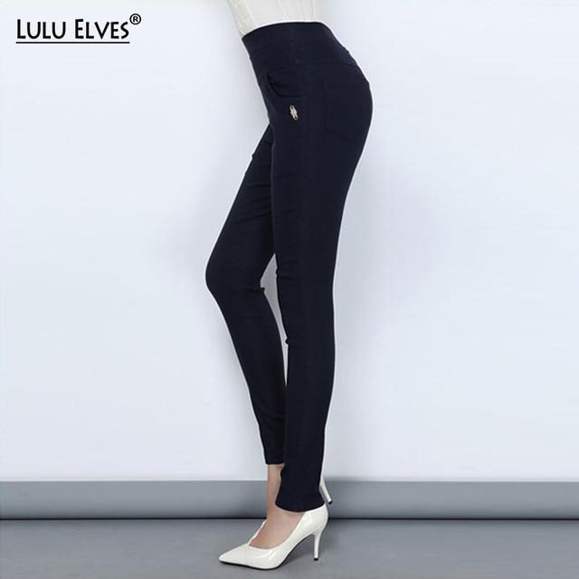 99e6413304a85 New Autumn Women Pants Plus Size 6XL Large Stretch Fabrics High Waist  Ladies Long Casual Trousers Skinny Pencil Pants For Women