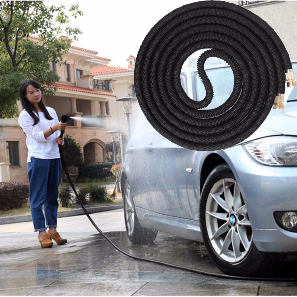 25FT 100FT Retractable Garden Hose Car Wash Watering Flowers Hose Latex Seamless Ribbon Paddy Drip Pipe Watering Irrigation Tool in Garden Hoses Reels from Home Garden