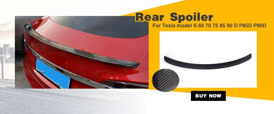 Карбоновый автомобильный передний бампер спойлер для Tesla модель S Седан 4 двери 85D P85D 2012- два стиля