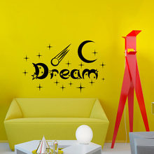 ZOOYOO New Design Bedroom Wall Stickers Moon And Stars Home Decor Vinyl Removable White Dream Wall Decal(China)