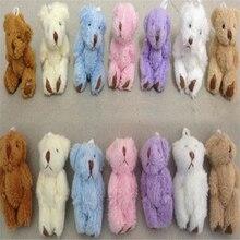 Cute Bear Plush-Toys Cartoon-Toys Gifts Mini Joint 50pcs/Lot Couple A130 Kids 6CM Wholesale