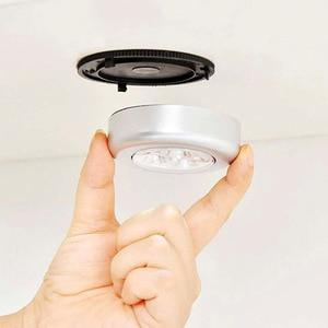 Image 4 - 3/4 LED dotykowe światło strona główna kuchnia pod szafka Push Stick On akumulator lampy zasilany szafa Stick lampa dotykowa LED Light
