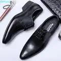 QYFCIOUFU 2019 Handgemachte Mode Luxus Hochzeit Marke männer kleid schuhe Aus Echtem Leder business Herren Formale oxford Kleid Schuhe