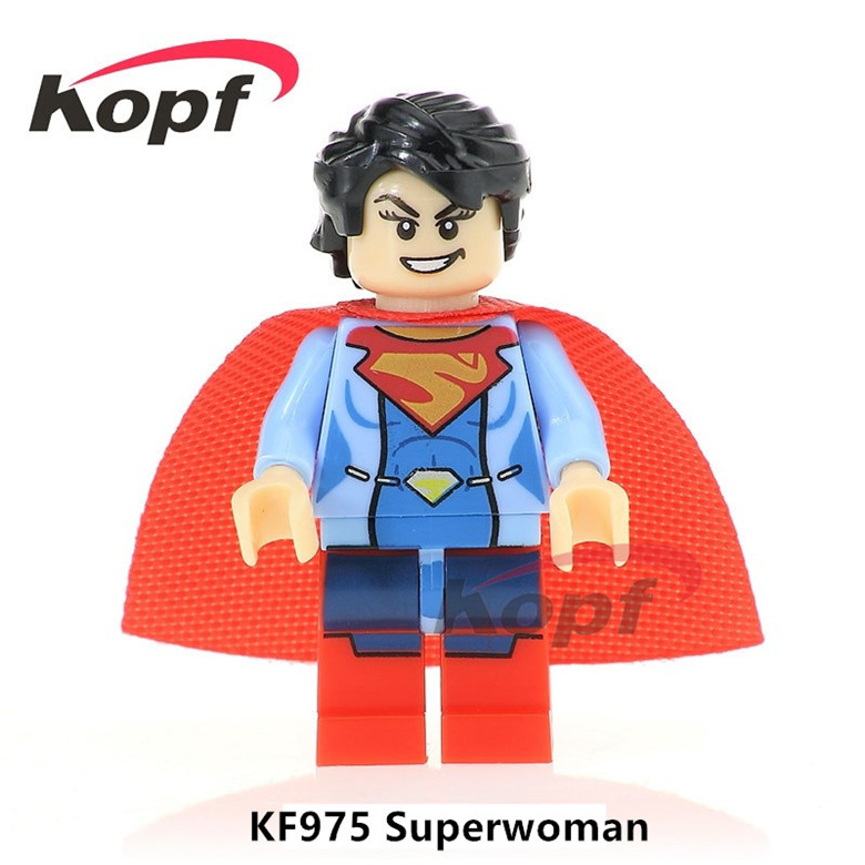20Pcs Super Heroes Superwoman Carnage Spiderman Rocky Balboa Felicity Smoak Bricks Building Blocks Children Gift Toys KF975
