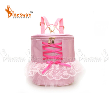 Pink Ballet Bags For Girls Children Embroidery Backpack Dance Ballerina Kids Lace Ribbon Bag Princess Roll bags