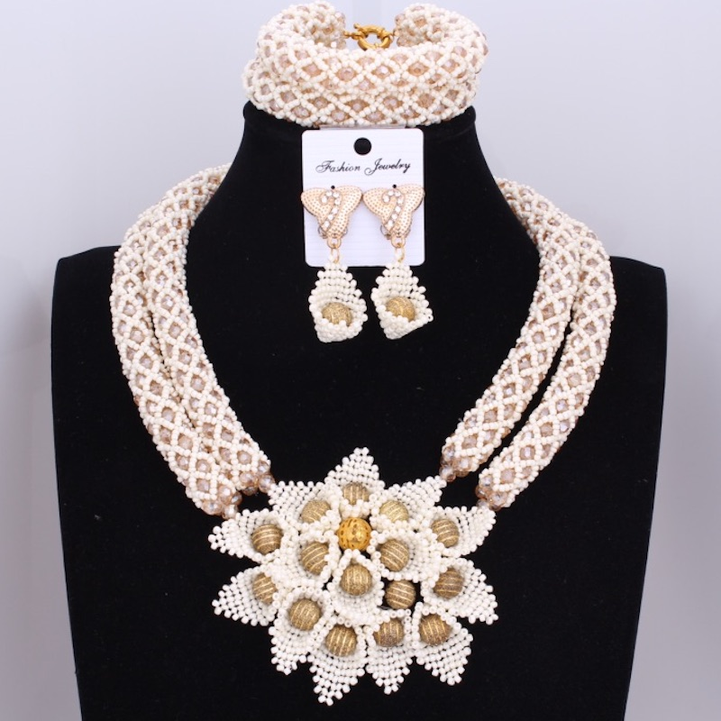 Splendid Milk Choker Necklace African Nigerian Wedding Jewelry Sets Dubai Gold Color 2 Layers Women Jewellery 2018 Fashion NewSplendid Milk Choker Necklace African Nigerian Wedding Jewelry Sets Dubai Gold Color 2 Layers Women Jewellery 2018 Fashion New
