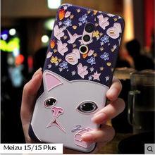 Meizu 15 15 plus Case silicon,3d relief soft tpu case Painted serise phone case for meizu 15 cover case