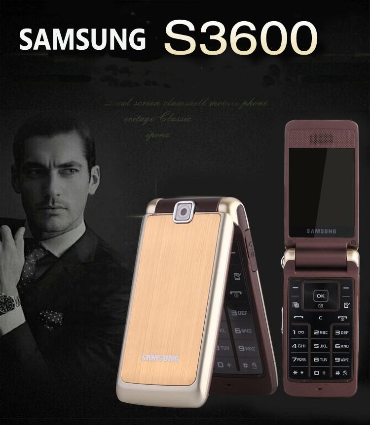 S3600 разблокированный samsung S3600 1.3MP камера GSM 2G Английский Арабский Русский Клавиатура флип Восстановленный мобильный телефон