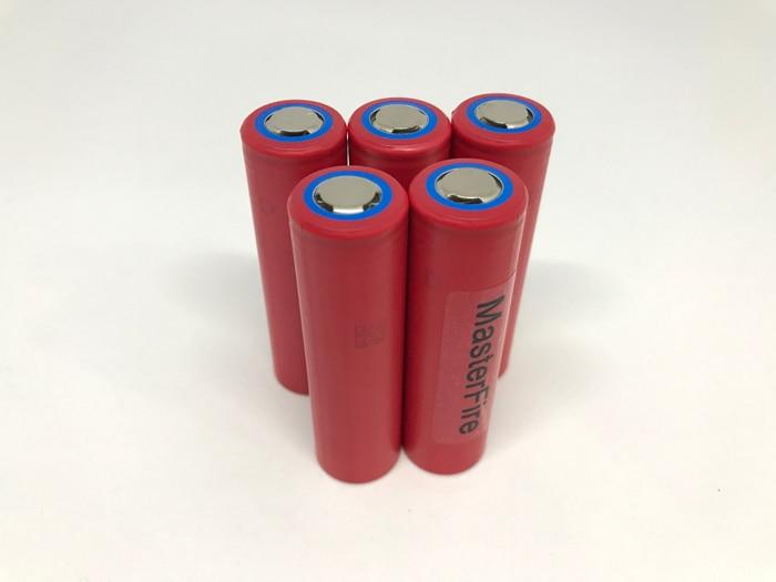 MasterFire 10pcs lot New Original Sanyo 18650 NCR18650GA 3 7V 3500mAh Rechargeable Battery Lithium Batteries 10A