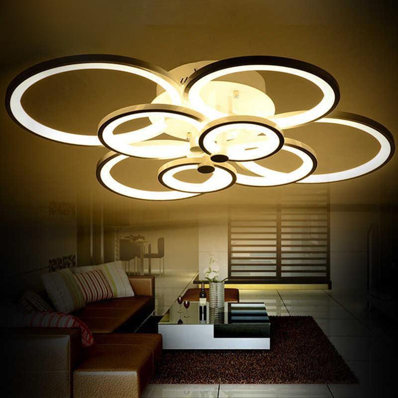 Dimmable Modern Led Chandelier Lights For Living Room Bedroom Kids Room Surface Mounted Led Home Indoor Ceiling Chandelier Lamp