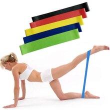 5 шт. 50*5 см латексные Йога гимнастические резинки фитнес-оборудование для тренировки петли силовые тренировочные хип-полосы