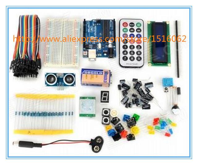 Conjunto Kit para Arduino UNO R3 Aprendizagem Robotale Básico-Azul + Multicoloridas