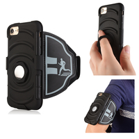Multi function i7plus stand case Sport arm band phone case cover For iphone 7 6 6s plus Gym Running Exercise mobile Holder Pouch