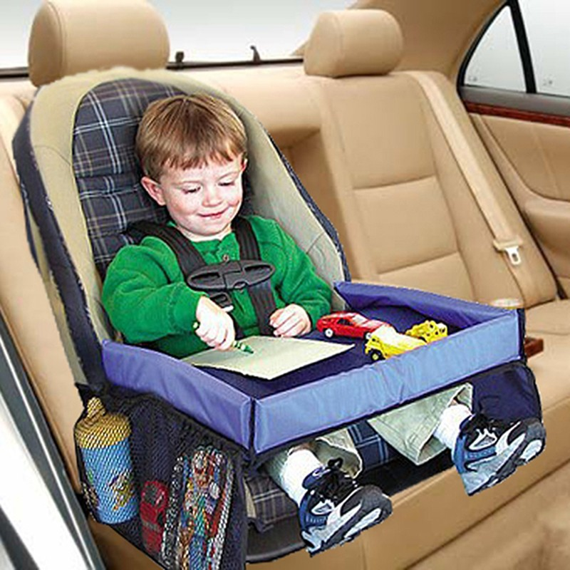 baby waterproof safety snack table car seat travel tray storage kids toys children drawing board eat