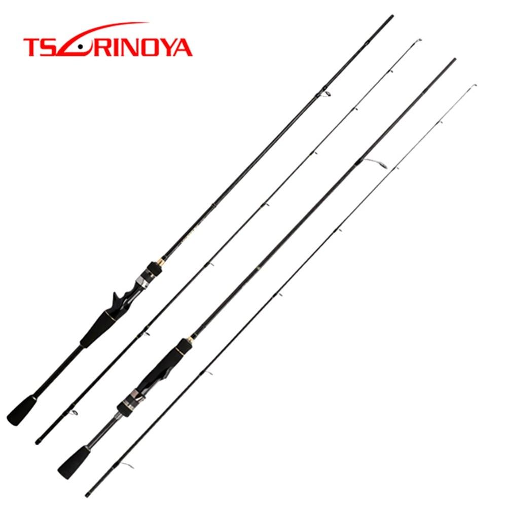 TSURINOYA NEW MYSTERY 1 82m 1 95m Spinning Casting Fishing Rod UL L 2 Section FUJI