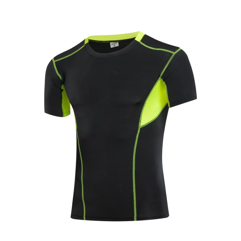 Breathable Men Elasticity Sport T-Shirt Quick Dry Fitness Short Sleeve Top Tee Compression-Shirt S/M/L/XL/2XL Outdoor